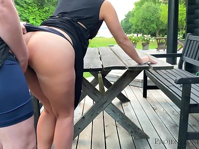 Morning alfresco quickie in the matter of schoolgirl - projectsexdiary