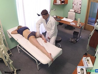 Sexy blonde Violet Pink gets a full body exam about his penis