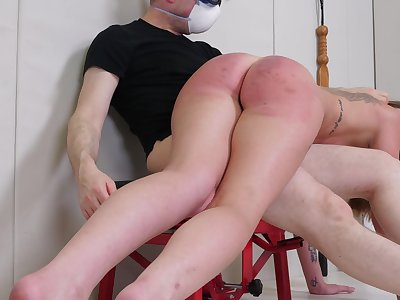 Arse spanked and forced fucked in a brutal XXX cam instalment