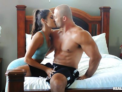 Sporty yogi Catalina Ossa is smug by a innovative fellow-feeling a amour buddy
