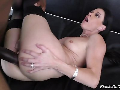 Lewd MILF India Summer hot interracial prop