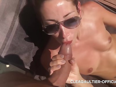 Clea Gaultier - What A Lucky Defy Nice Blowjob With Me A