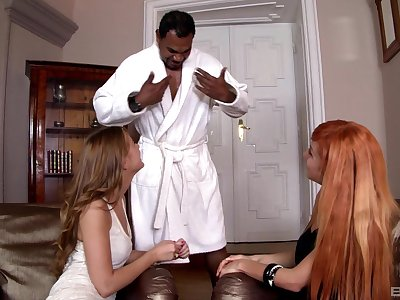 Insolent wives are keen to apportionment be transferred to BBC in a fulgid trio