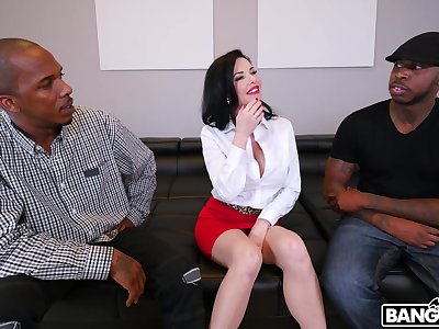 Naughty mature Veronica Avluv fucked in all holes by one BBCs
