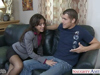 Married guy can't resist fucking super sexy piece of baggage Capri Cavanni