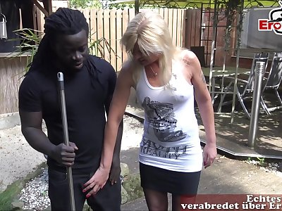 german milf do outdoor blowjob with bbc