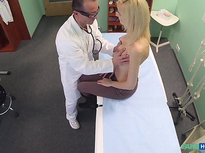 Falsify decides that he needs to examine his blonde patient with his unearth