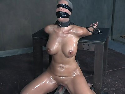 Nasty torture session with busty full-grown pornstar Syren De Mer